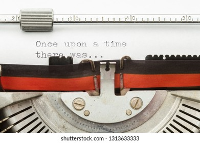 Typewriter with paper sheet - Once upon a time .....