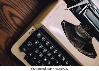 typewriter vintage color style