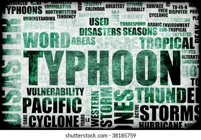 Typhoon Natural Disaster as a Art Background