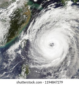 Typhoon Trami Takes Aim at Japan in the Western Pacific Ocean. Elements of this image furnished by NASA.