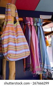 Typical African fabrics, called Kikoy, Kenya (Africa)