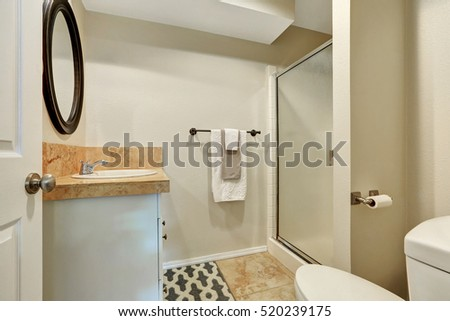 Typical American Bathroom Interior Design Northwest Stock Photo
