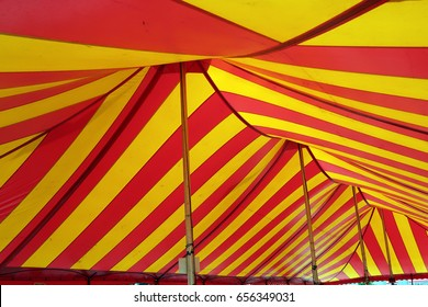 Typical American circus tent interior.