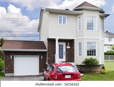 Typical American small middle-class detached house