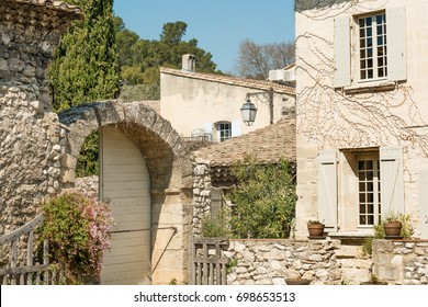 Typical ancient countryside house in Provence, France