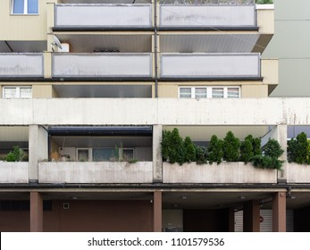 Typical apartament buildings with terrace in Vienna