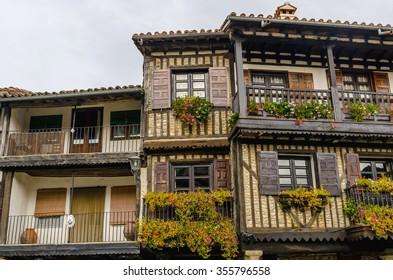 Typical architecture in La Alberca, Salamanca, Castile and Leon, Spain
