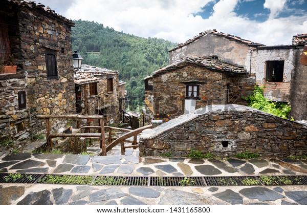 typical architecture at Talasnal Schist Village (Serra da Lousã), Lousã, Portugal