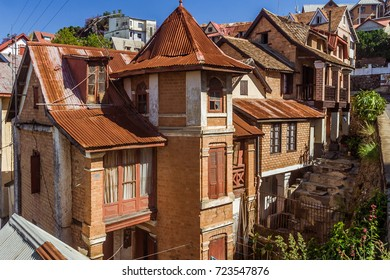 Typical architecture of the upper town of Antananarivo, capital of Madagascar