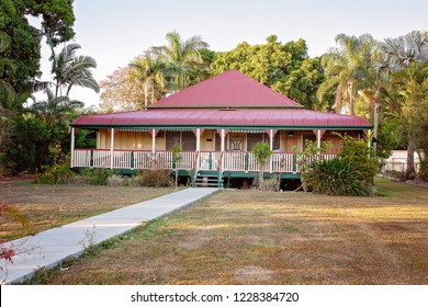 Typical Australian Queensland style low block home in suburbia