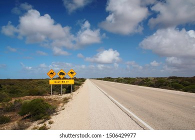 Typical Australian road sign across the Nullarbor