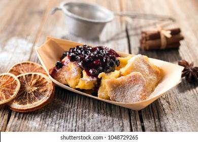 Typical austrian dessert  Kaiserschmarrn