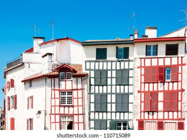 Typical Basque houses in Bayonne, France