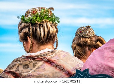 typical bavarian woman with traditonal clothes