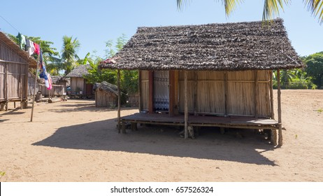 Typical beach house in Nosy Iranja, Madagascar
