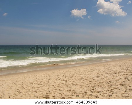 typical beach on east coast america stock photo edit now 454509643