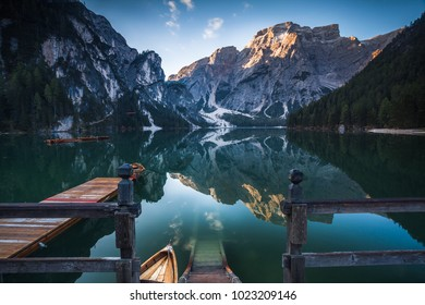 Typical beautiful landscape in Dolomites