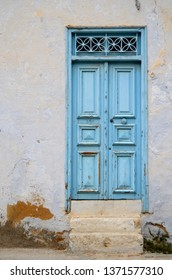 Typical blue local door in Tunis,Tunisia