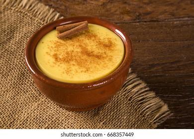 Typical Brazilian junina party sweets - canjica / curau