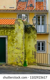 Typical building in the Alfama district, Lisbon, Portugal