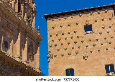 Typical buildings of the city of salamanca, spain