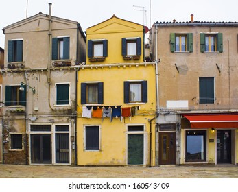 Typical buildings in Murano,Italy