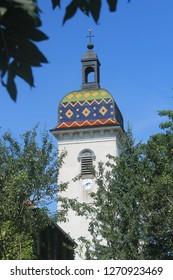 Typical church in Aubonne, Franche Comté, France