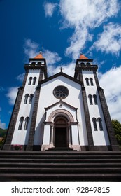 The typical church on Sao Miguel on Azores