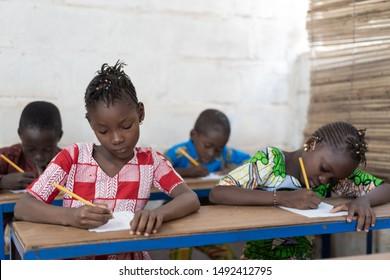 Typical Classroom full of Children in Bamako, Mali