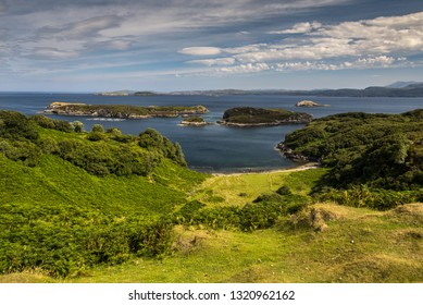 typical coastal landscape at Lochinver, Sutherland, Highlands Scotland