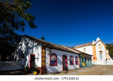 Typical colonial (Portuguese) house in Santo Antonio de Lisboa village, tourist destination in Florianopolis