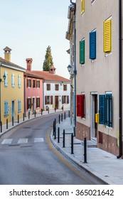 Typical Colorful Buildings In Streets Of Vrsar - Vrsar, Istria, Croatia, Europe