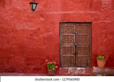 Typical colorful colonial architecture in the heart of Arequipa, Peru