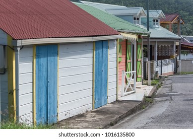 Typical colorful house in Guadeloupe, in the village of the Saintes island, Terre-de-Bas