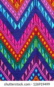 typical colorful woven fabric from central america