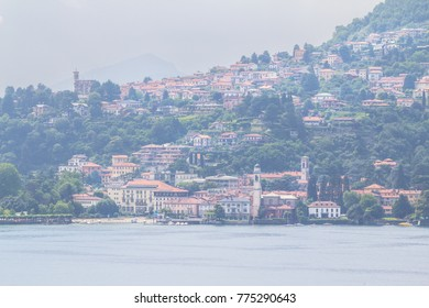 Typical Como Lake landscape on the mountain, Italy