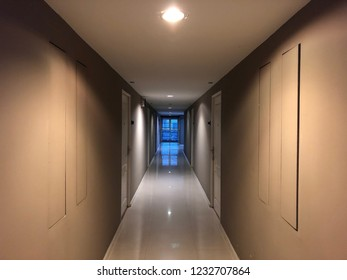 the typical condominium corridor is providing general downlights for efficient lighting level for circulation ambient