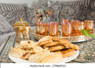 Typical cookies as presented by Moroccan women during ramadan period