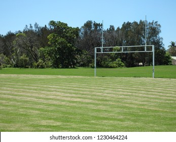 Typical country town Rugby league oval field in NSW Australia.