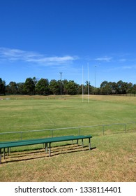 Typical country town Rugby League and Union oval field in Australia.