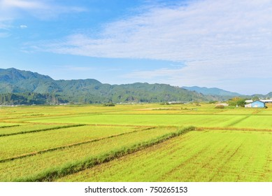Typical Countryside Scenery in Japan