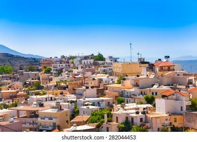 Typical cretan village. Crete, Greece.
