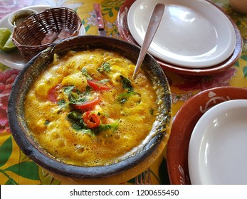 Typical dish of Bahia, Moqueca de Camarao