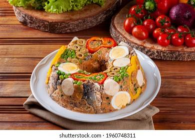 Typical dish of Brazilian cuisine called Cuscuz Paulista
