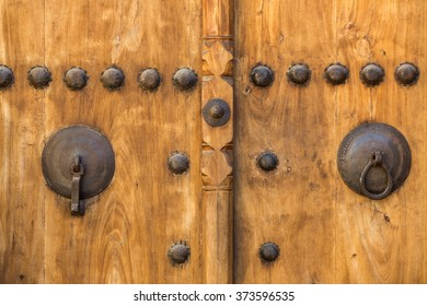 Typical door of an old house in Kashan, Iran