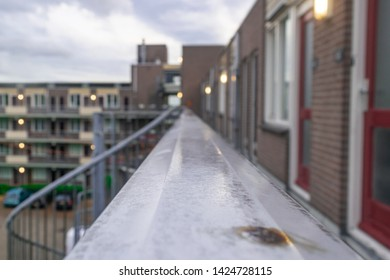 Typical Dutch apartments in the city of Nijmegen, The Netherlands view from te balcony