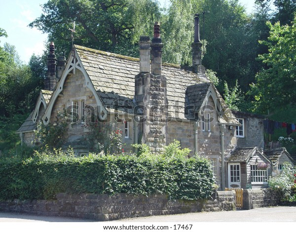 A typical English cottage