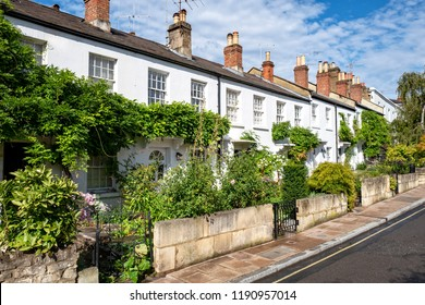 Typical English row of terraced cottages in Richmond London