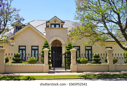 Typical example of Australian house facade
