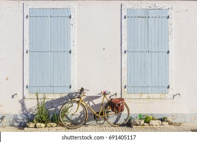 Typical facade in the Island of Ré, France